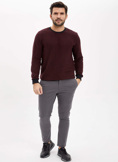 DeFacto Skinny Fit Chino Pantolon Antrasit